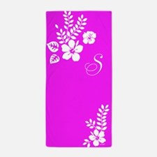 Hibiscus Monogram Beach Towel