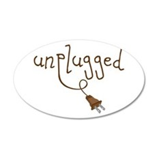 Unplugged Wall Decal