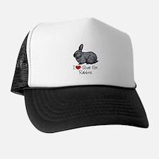 I Heart Silver Fox Rabbits Trucker Hat