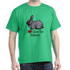 I Heart Silver Fox Rabbits T-Shirt