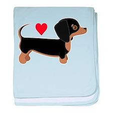 Dachshund Love baby blanket