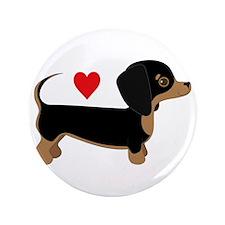 "Dachshund Love 3.5"" Button"