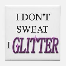 Funny Glitter Tile Coaster