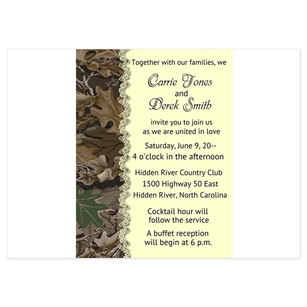 Camo Wedding Invitations To Make: Camo Camouflage Wedding Invitation Invitations By