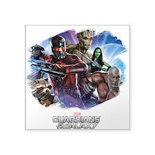"Guardians of the Galaxy Bru Square Sticker 3"" x 3"""