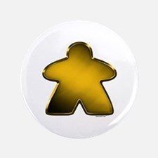 "Metallic Meeple - Gold 3.5"" Button"