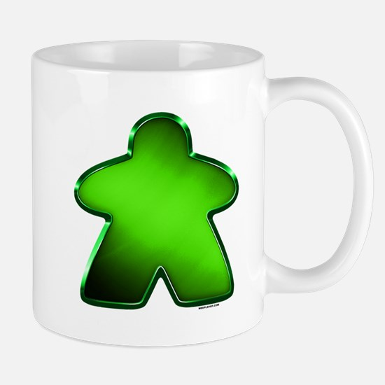 Metallic Meeple - Green Mugs