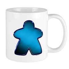 Metallic Meeple - Blue Mugs