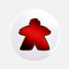 "Metallic Meeple - Red 3.5"" Button"