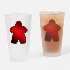 Metallic Meeple - Red Drinking Glass