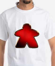 Metallic Meeple - Red T-Shirt