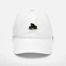 Best Poppa Bear Fun Dad Quote Black Bear Art Hat