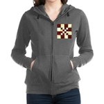 Cracked Tiles - Red Women's Zip Hoodie
