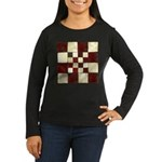 Cracked Tiles - R Women's Long Sleeve Dark T-Shirt