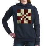 Cracked Tiles - Red Women's Hooded Sweatshirt