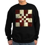 Cracked Tiles - Red Sweatshirt (dark)