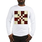 Cracked Tiles - Red Long Sleeve T-Shirt