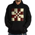 Cracked Tiles - Red Hoodie (dark)