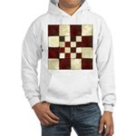 Cracked Tiles - Red Hooded Sweatshirt