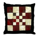 Cracked Tiles - Red Throw Pillow
