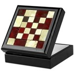 Cracked Tiles - Red Keepsake Box