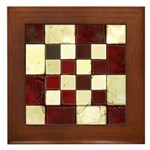 Cracked Tiles - Red Framed Tile