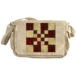 Cracked Tiles - Red Messenger Bag