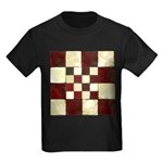 Cracked Tiles - Red Kids Dark T-Shirt