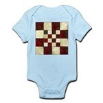Cracked Tiles - Red Infant Bodysuit