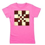 Cracked Tiles - Red Girl's Tee