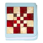 Cracked Tiles - Red baby blanket