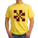 Cracked Tiles - Red Yellow T-Shirt