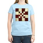 Cracked Tiles - Red Women's Light T-Shirt
