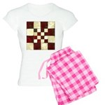 Cracked Tiles - Red Women's Light Pajamas