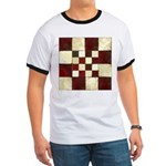 Cracked Tiles - Red Ringer T