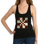 Cracked Tiles - Red Racerback Tank Top