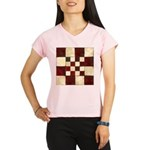 Cracked Tiles - Red Performance Dry T-Shirt