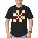 Cracked Tiles - Red Men's Fitted T-Shirt (dark)
