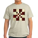 Cracked Tiles - Red Light T-Shirt