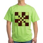 Cracked Tiles - Red Green T-Shirt