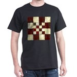 Cracked Tiles - Red Dark T-Shirt