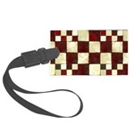 Cracked Tiles - Red Large Luggage Tag