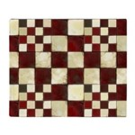 Cracked Tiles - Red Throw Blanket