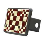 Cracked Tiles - Red Rectangular Hitch Cover