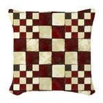 Cracked Tiles - Red Woven Throw Pillow