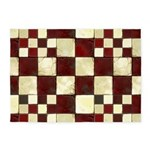 Cracked Tiles - Red 5'x7'Area Rug