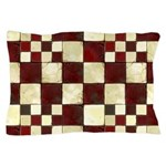 Cracked Tiles - Red Pillow Case