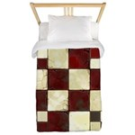 Cracked Tiles - Red Twin Duvet