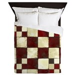 Cracked Tiles - Red Queen Duvet