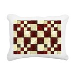 Cracked Tiles - Red Rectangular Canvas Pillow